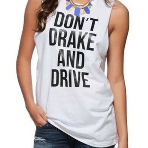 Supermuse Revolve Don't Drake And Drive White tee